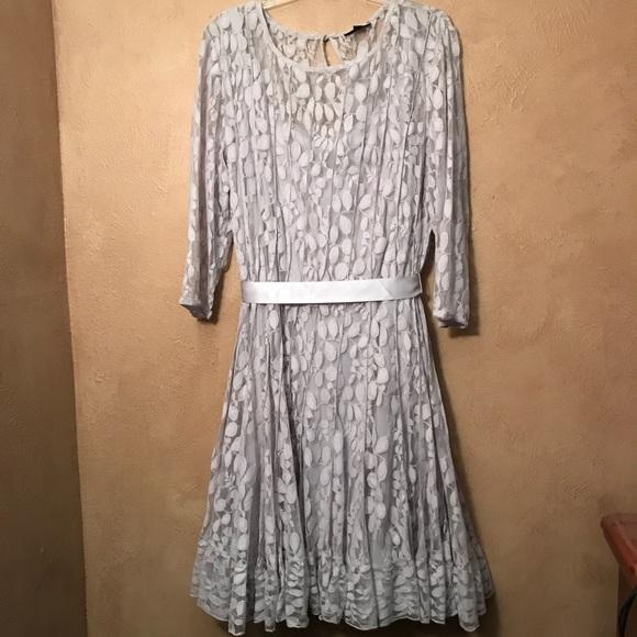 MSK Plus Size Silver Dress